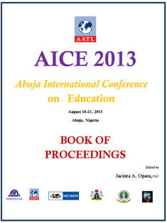 AICE2013 Book of Proceedings cover
